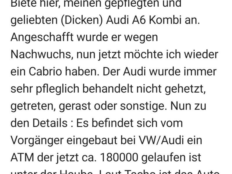 Tausche Audi A6 Avant gegen Cabrio